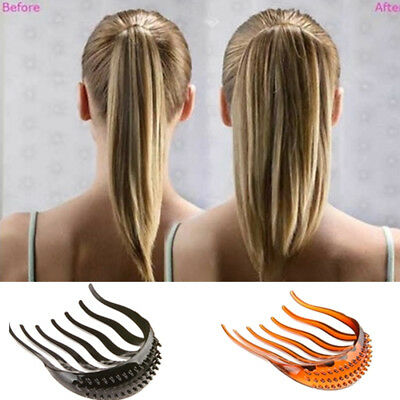 Lady Volume Inserts Hair Clip Hairpins Bouffant Ponytail Comb Grips Headwear