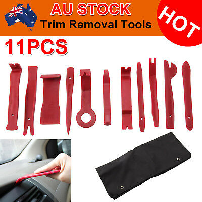 11pc Car Trim Door Panel Removal Molding Set Kit Pouch Pry Tool Interior DIY