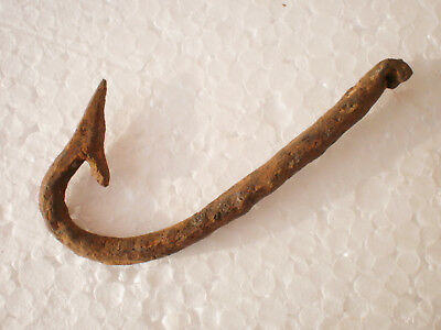 ANCIENT RARE Authentic Viking Iron Fishing Hook  8 - 10 century AD №4
