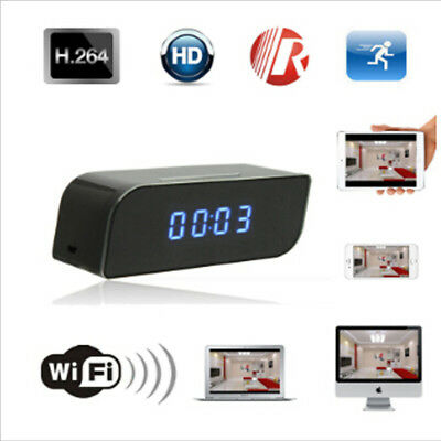 720P Mini Hidden Spy DVR Alarm Clock Camera Motion Detection Video Recorder