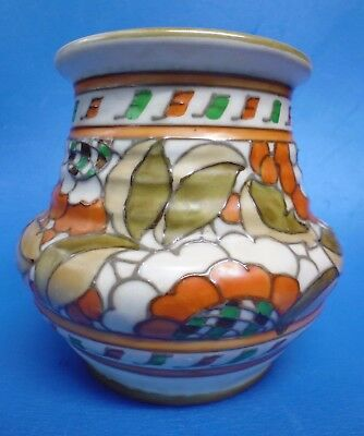 CHARLOTTE RHEAD SIGNED ~ Crown Ducal Pottery ~ Art Deco Vase ~ Pattern 4491