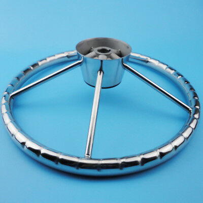 New Marine13-1/2'' 5Spoke Boat Steering Wheel Stainless Steel Polished Perfect