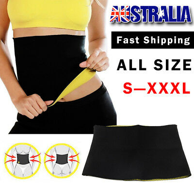 Women Waist Trimmer Exercise Belt Slimming Sweat Burn Fat Weight Loss Hot L-XXXL