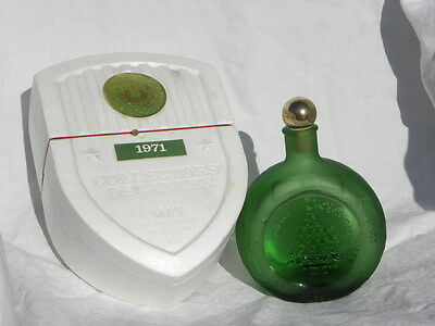 1971 Wheaton Glass Christmas Decanter/Bottle w/Orig. Box, 1st in X-Mas Series