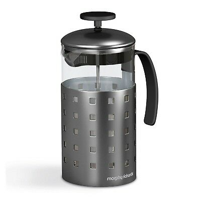 Morphy Richards Stainless Steel Glass Cafetiere Filter 8 Cup Cups Coffee Plunger