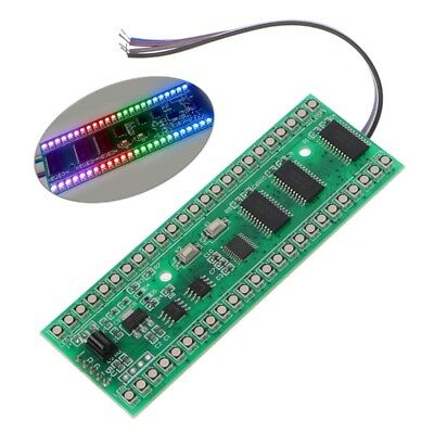 RGB MCU Display Pattern 24 LED Dual Channel VU Level Indicator Meter F Amplifier