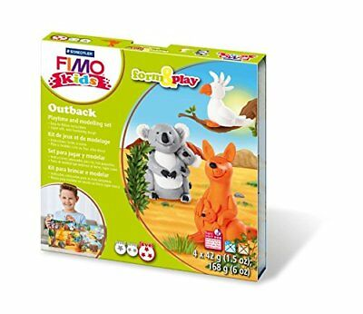 Fimo Kits For Kids Form & Play Polymer Modelling Oven Bake Clay - SET Outback