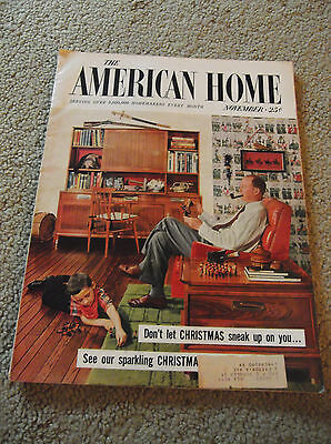 Vintage-Nov 1955 The American Home Magazine-Great Old Ads-Home Decor-Recipes