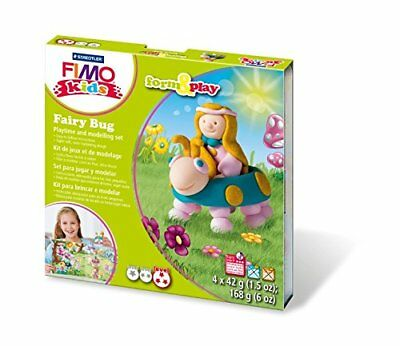 Fimo Kits For Kids Form & Play Polymer Modelling Oven Bake Clay - SET Fairy Bug