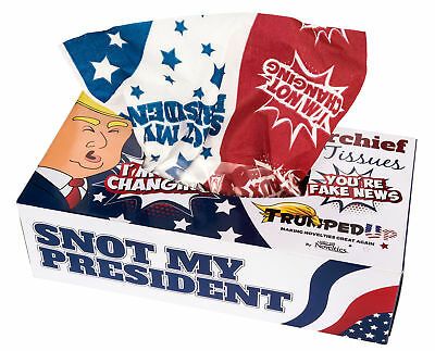 Snot My President Donald Trump Facial Tissues Political Novelty Joke Gag Gift