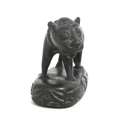 Vintage Collectible Solid Brass Small Lion Statue Figurine Decorative CA114BH