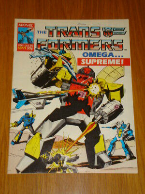 Transformers British Weekly #71 Marvel Uk Comic 1986