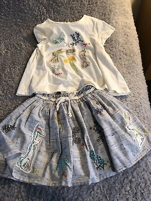 Next Girls Outfit Skirt & Top 3-4 Years