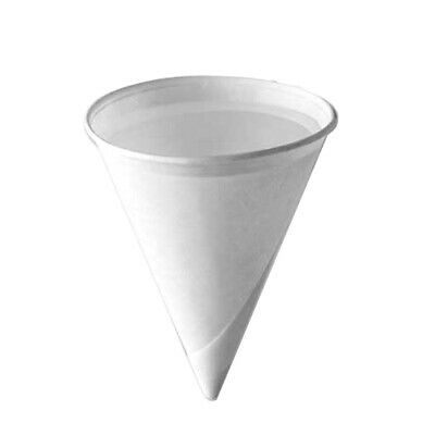4oz Disposable Individual Roll Rim Paper Cones Cups for Water Cooler 200 - 5000