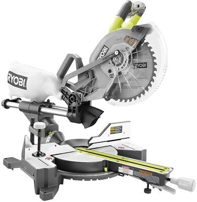 Ryobi 18-Volt ONE+ONE Cordless Brushless 10 in Dual Bevel Sliding Miter Saw Tool