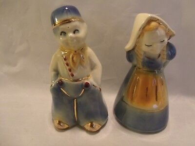 VINTAGE SHAWNEE DUTCH BOY AND GIRL SALT AND PEPPER SHAKERS 1950's