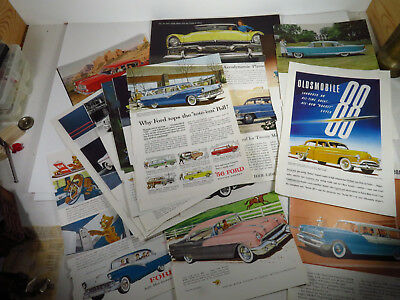 1950s Automobile Ads - lot of 20