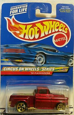 Vintage 1999 Hot Wheels-Red '56 Flashsider Truck-Circus on Wheels Series #1 of 4