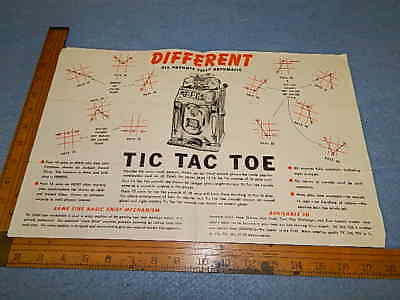 1951 Jennings TIC TAC TOE & CHALLENGER Slot Machine Advertising Brochure