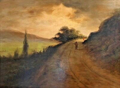 Painting By Astley Middleton Cooper 1856-1924 Early California Artist