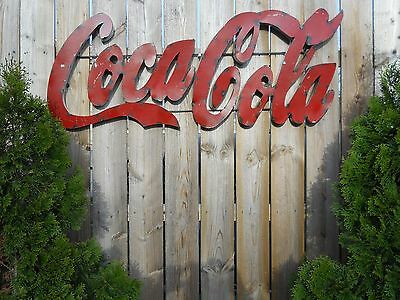 Vintage Coca-Cola Sign Large 3D Soda Fountain Sign Coke Sign 46 inch x 19 inch