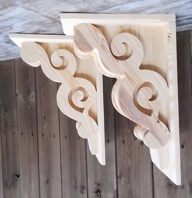 Set of 2 Large Victorian Design Corbels.. 11 x 17 x 5      (SCW #6211D)
