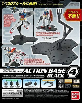 Bandai Gundam Action Base 4 Black Gunpla 1/100 Scale Display Stand USA Seller