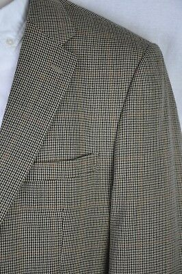 44R Jos A Bank Tailored Fit Multicolor Wool Houndstooth Plaid 2Btn 2Vent Blazer