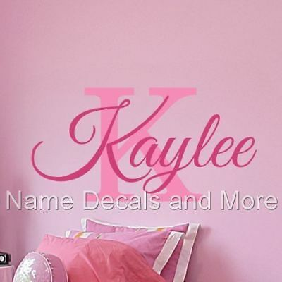 Wall Name Decal Vinyl Personalized Sticker Girls Decor Girl Nursery Bedroom