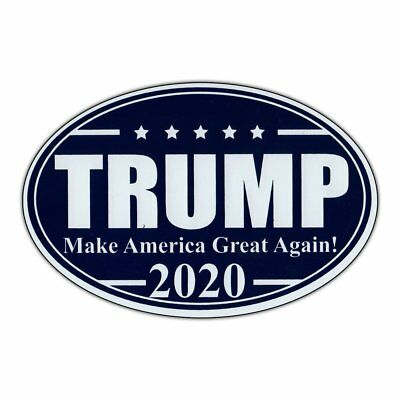 Oval Shaped Magnet - Trump 2020 - MAGA - Magnetic Bumper Sticker