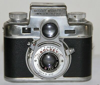 Bolsey Model C Twin Lens Reflex 35mm Rangefinder Camera Made In The USA 1950-56