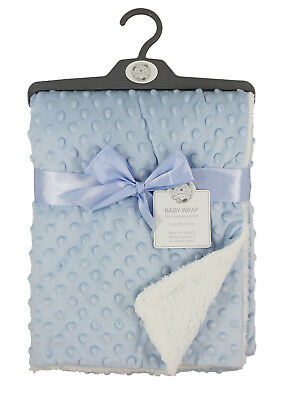 Baby Soft Velour Blue Bubble Wrap Blanket 75x100CM