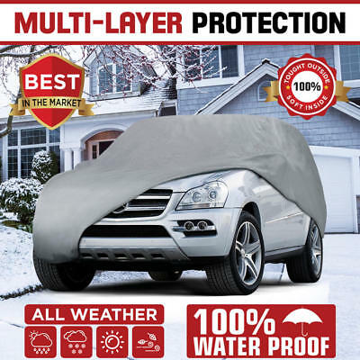 Multi-Layer Genuine Waterproof SUV/Van Cover for Auto Car Protect All Weather 2X