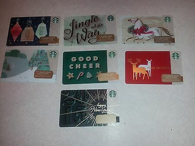 Mint 7 Starbucks 2014 Holiday Christmas New Years Cards Free Shipping