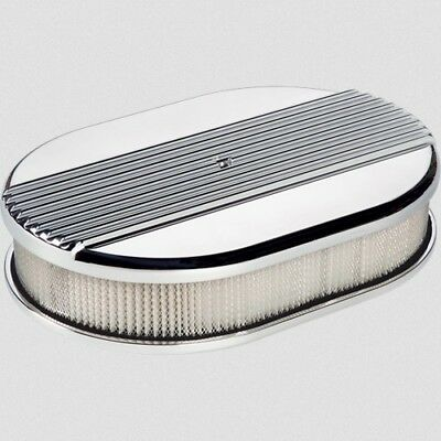 Billet Specialties 15630 Air Cleaner Small Oval Ribbed Polished