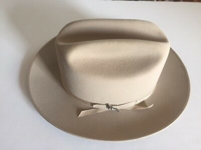 Stetson Open Road Silver Belly Fur Felt Hat Perfect Condition Made in USA