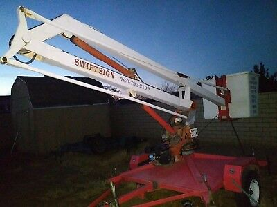"""Tow behind boom lift 30"""""""