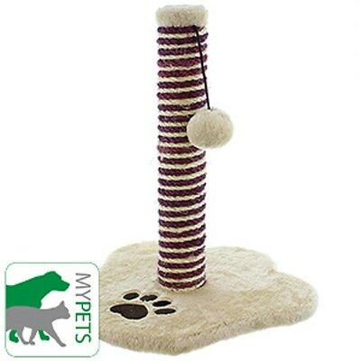 Plush Pet Kitten Cat Scratch Post Purrfect Groom Scratch Toy Fun Hb