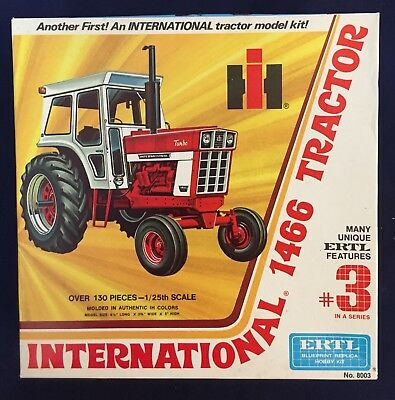 ERTL  ** INTERNATIONAL 1466 TRACTOR **  Model Kit 1/25 Scale #8003 #3 in Series