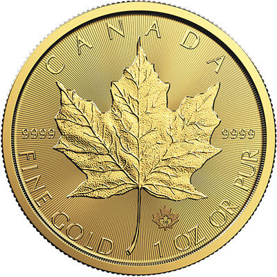 1 oz 2019 Gold Maple Leaf Coin - RCM .9999 Gold - Royal Canadian Mint