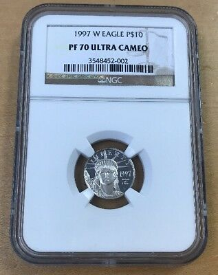 1997 W $10 1/10 Oz. Platinum American Eagle PF70 Ultra Cameo by NGC (T38)