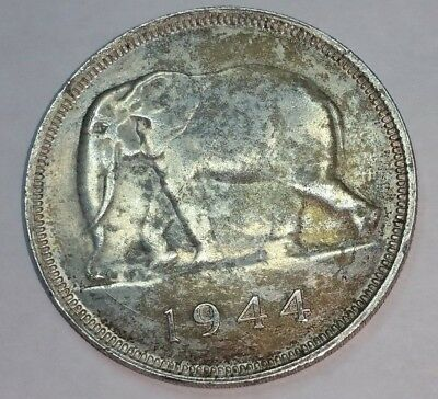Belgian Congo 50 Francs, 1944 Nazi Occupation