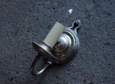 antique nickel single candle wall sconce circa 1920's