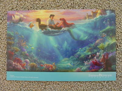 Disneys The Little Mermaid Falling In Love Thomas Kinkade Studio Dealer Postcard