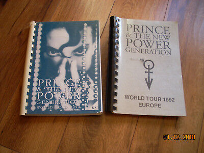 Prince, A Collection of Tour Books, 45's, L.P., Cloth stickers and Itinerary's