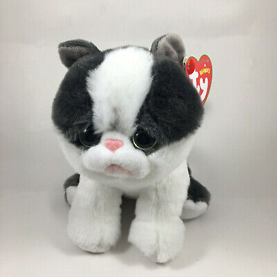 "TY Beanie Baby 6"" YANG the Cat Plush Stuffed Animal Toy MWMT's Heart Tags 2018"