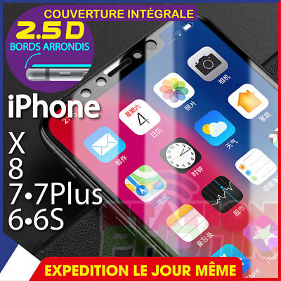 iPHONE X / 8 / 7/7Plus / 6 /6S/6Plus FILM VITRE DE PROTECTION ÉCRAN VERRE TREMPÉ