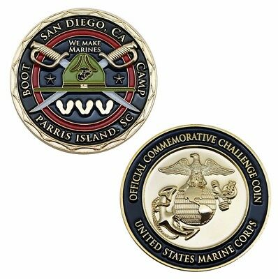 US MARINE CORPS PARRIS ISLAND SAN DIEGO BOOT CAMP CHALLENGE COIN Rare