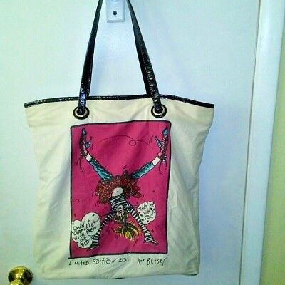 Betsey Johnson Womens Limited Edition Vintage Tote Large