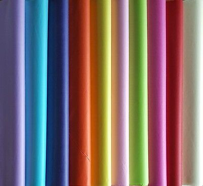 15 SHEETS LUXURY COLOURED TISSUE PAPER ACID FREE LARGE  75cm x 50cm  WRAPPING